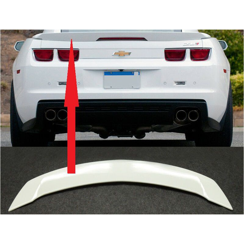 SUMMIT WHITE TRUNK SPOILER WING LIP WITH LED BRAKE CHEVROLET CAMARO 10-13